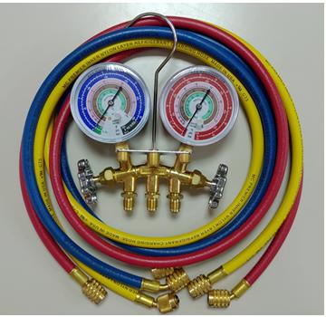複合壓力表組銅架配皮管