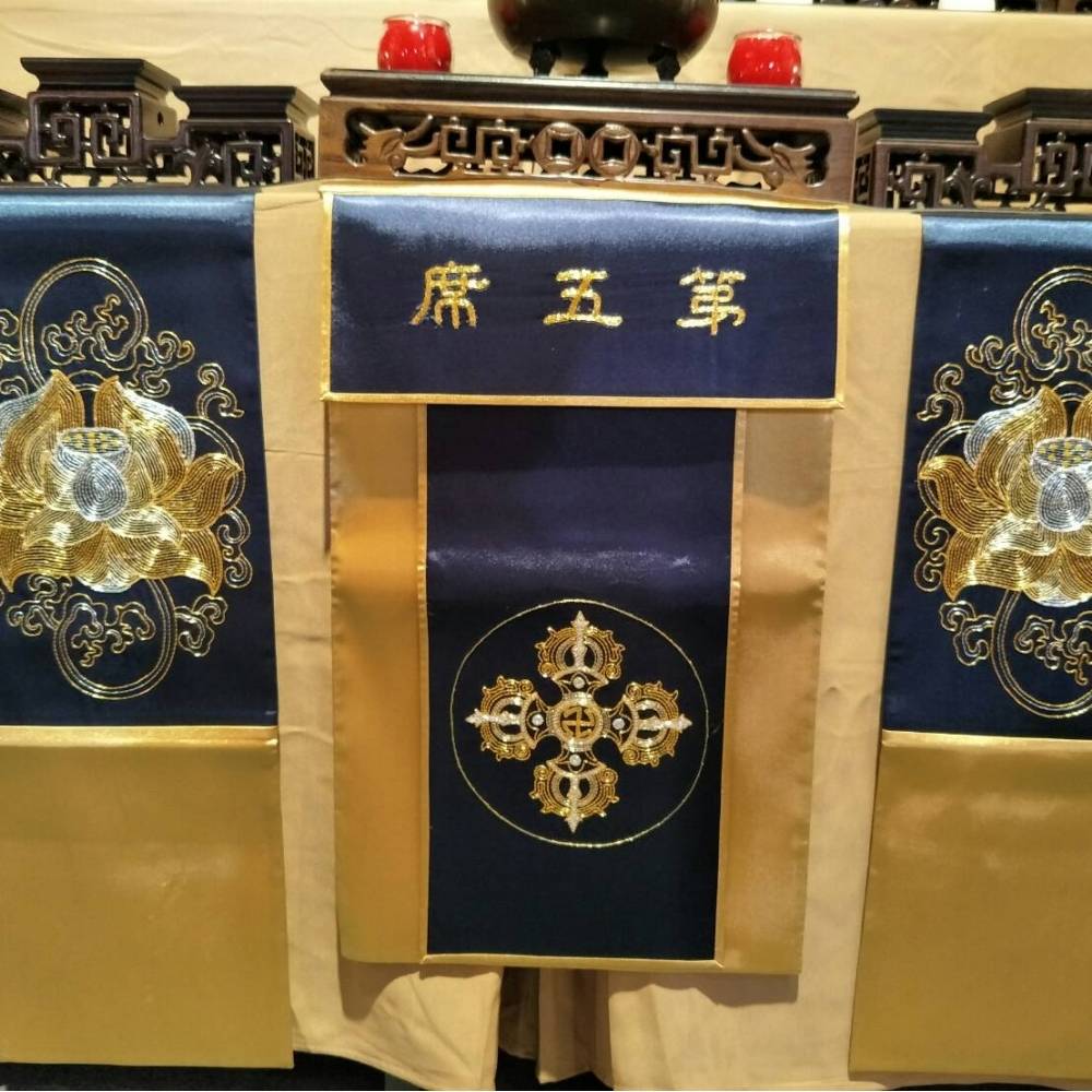寧波金銀繡-桌圍