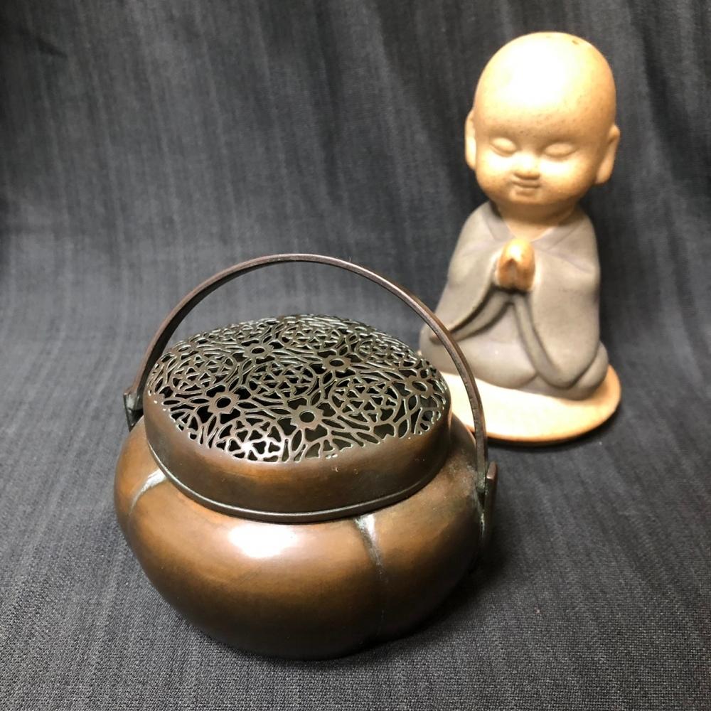 精緻提手小銅爐