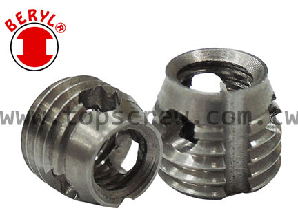 Self Tapping Threaded Insert Slotted Pin