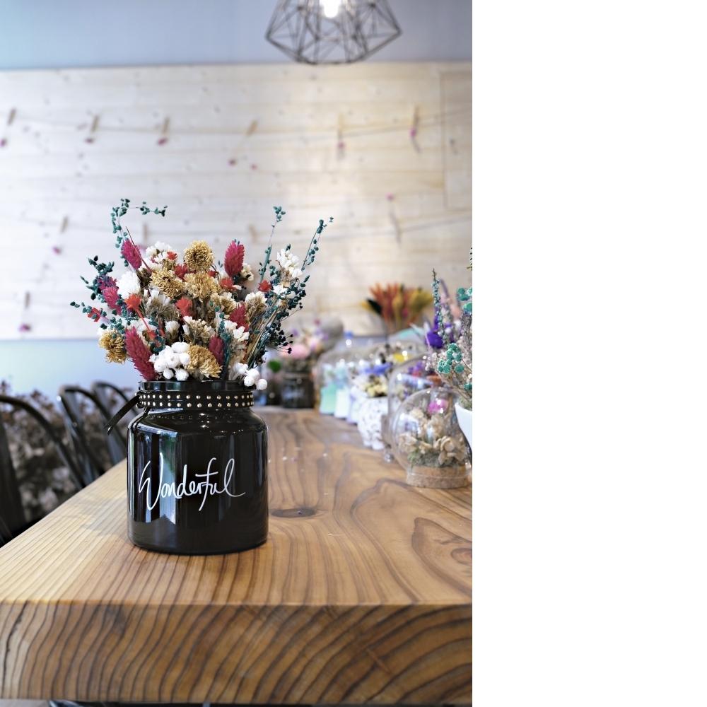 乾燥花-桌上型小盆栽