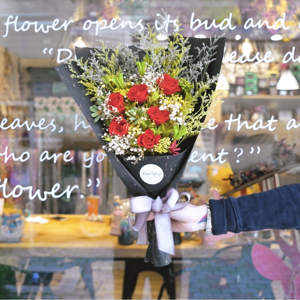 需客製-乾燥花花束