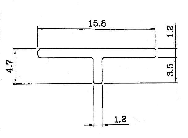 70964T型鋁條