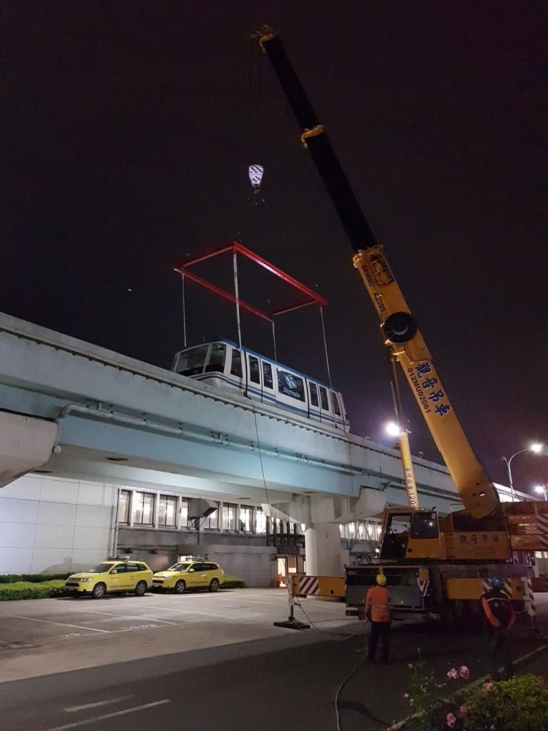 機場捷運車廂吊裝運輸