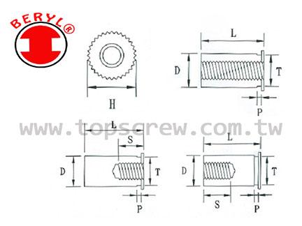 TSC 5 壓鑄螺母