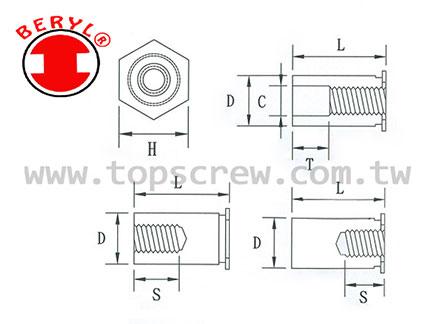 TSC 1 壓鑄螺母
