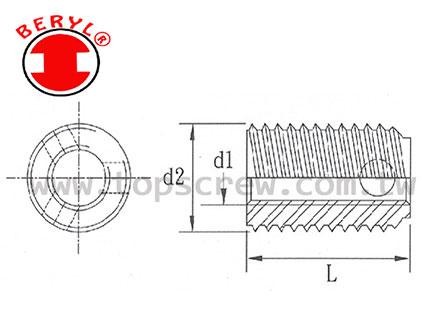 3孔自攻螺紋襯套 (厚壁)