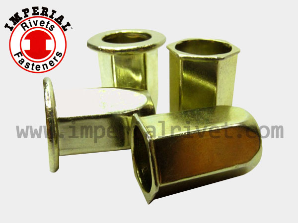Full-hexagon W. Small Flange Rivet Nut, Open End FHSM & FHSI