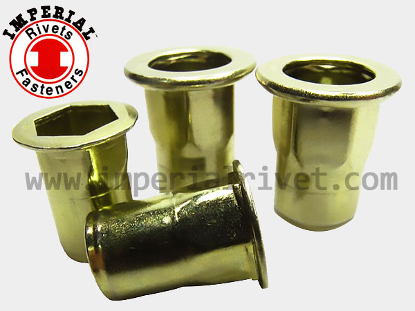 Half-hexagon W. Big Flange Rivet Nut Flat Head,open End HBM & HBI