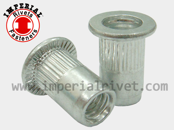 Small & Large Flange, Knurled Rivet Nut TSSS TSBS