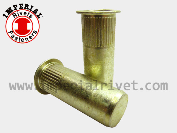 Large Flange Knurled Rivet Nut, Closed End TSBS-C