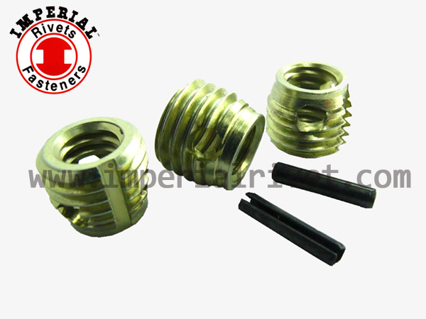 Self Tapping Threaded Insert W. Slotted Pin