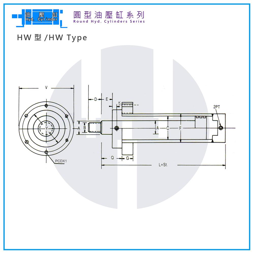 Hyd. Cylinder-HW Type