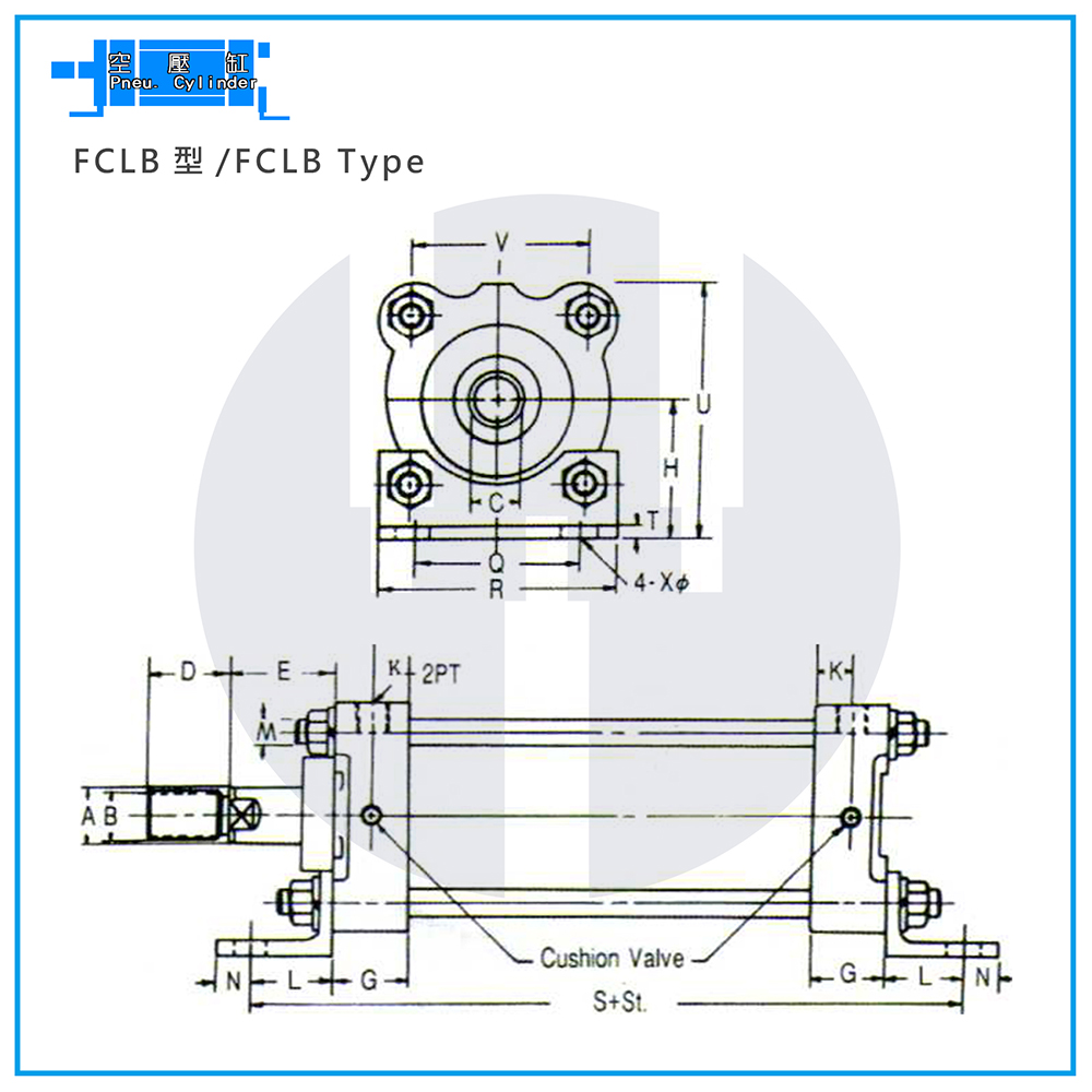Pneu. Cylinders - FCLB Type