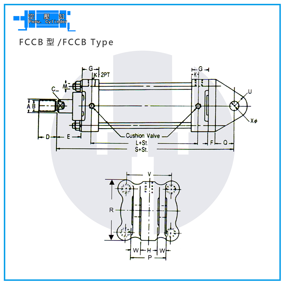Pneu. Cylinders - FCCB Type