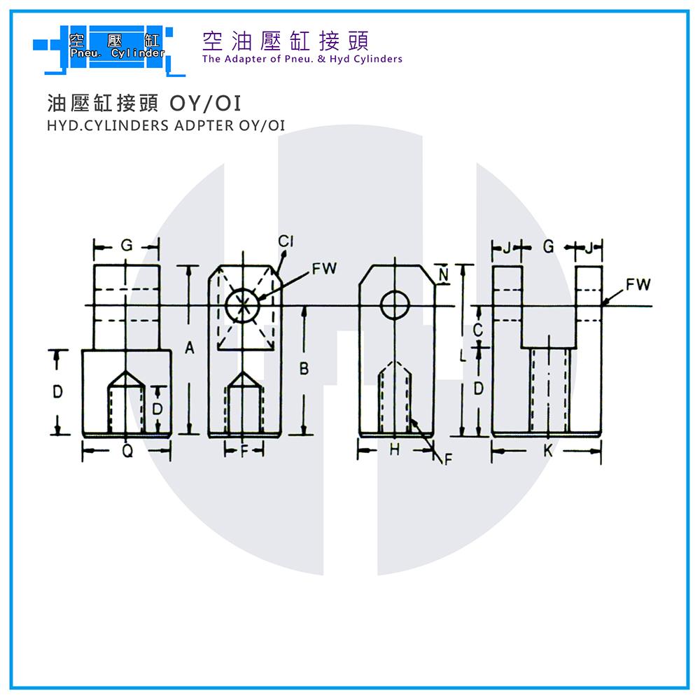 Hyd. Cylinder Adapter OY/OI