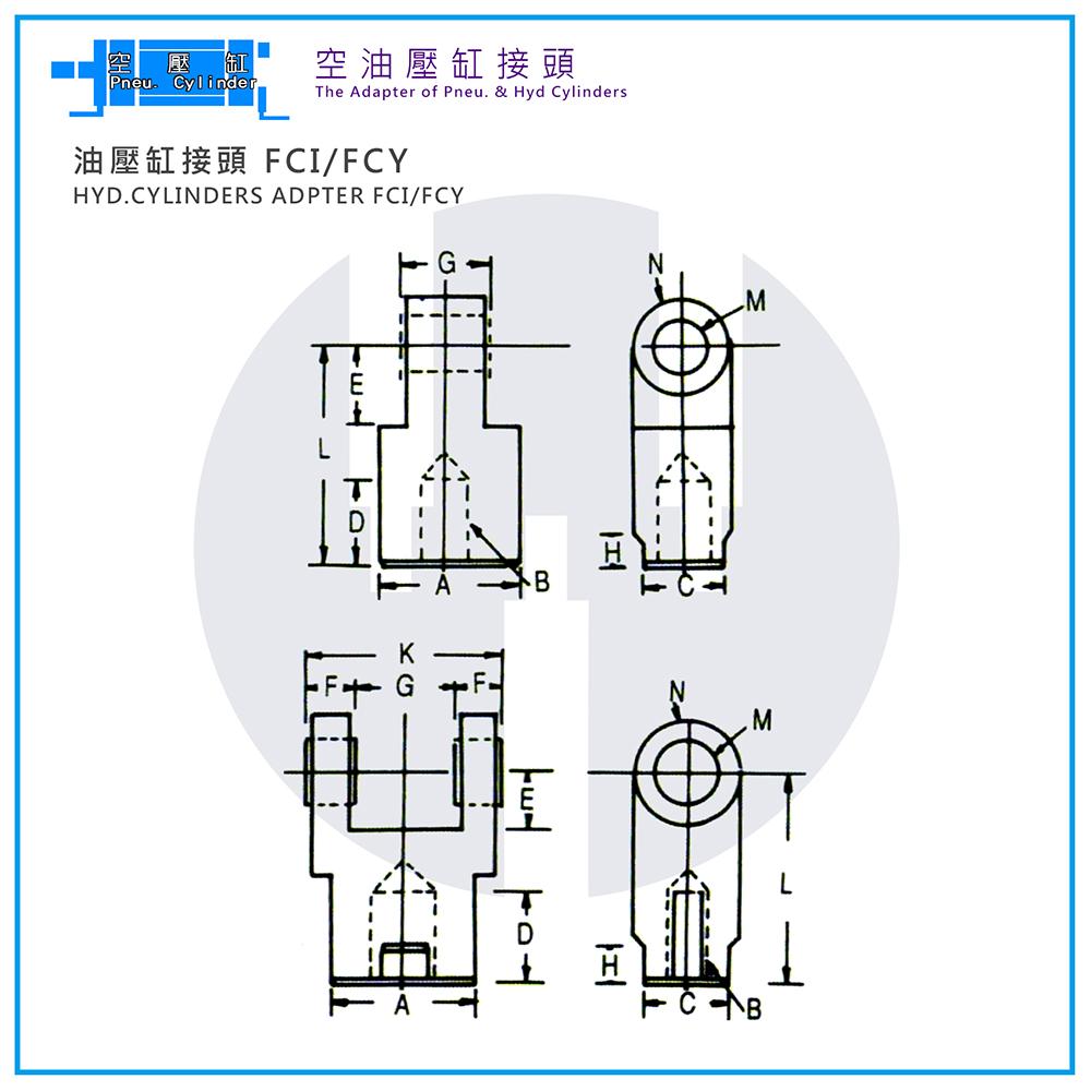 Hyd. Cylinder Adapter FCI/FCY