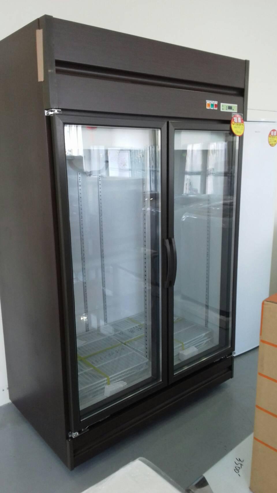 營業用雙門玻璃冰箱(
