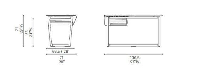 復刻近原裝Poltrona Frau Fred Desk 台灣嚴選工廠製造/特色工作桌/質感書桌-訂製款