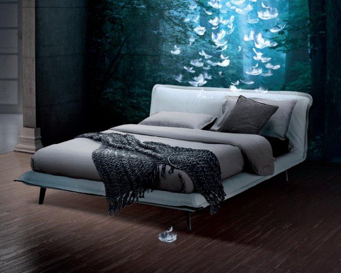 復刻Natuzzi pluma bed/雙人床 台灣嚴選工廠製造/輕北歐/輕美式/低調奢華 0 直購-訂製款